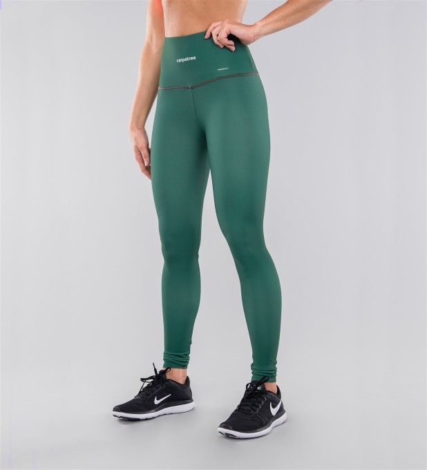 Full Pine Green Highwaist Leggings Miniature 1