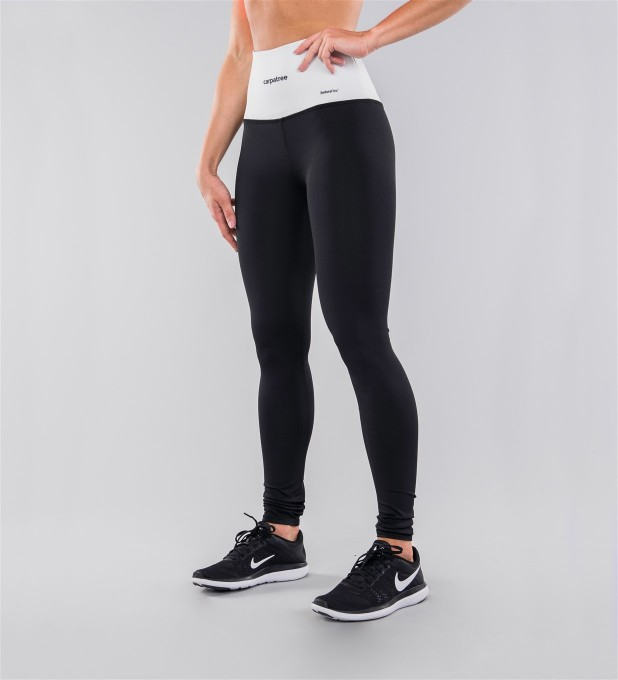 Black Classic & White Belt Highwaist Leggings Thumbnail 1