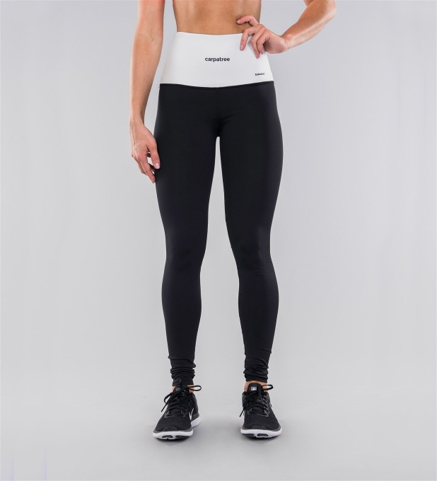Black Classic & White Belt Highwaist Leggings Thumbnail 2