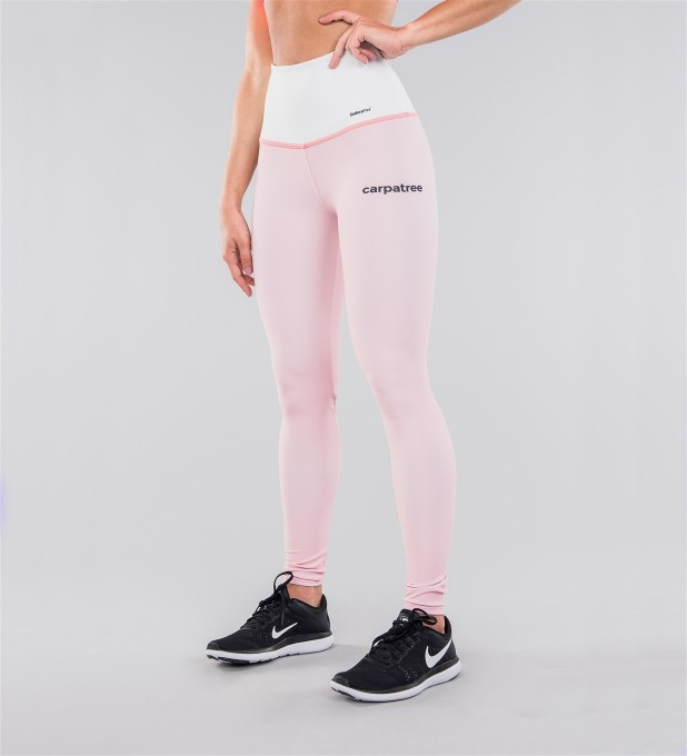 Pastel Pink & White Belt Highwaist Leggings Thumbnail 1