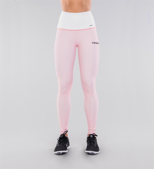 Pastel Pink & White Belt Highwaist Leggings Miniature 2
