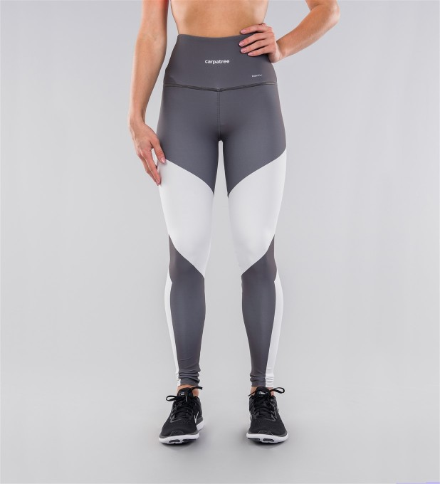 Grey & White Highwaist Leggings Miniatura 2