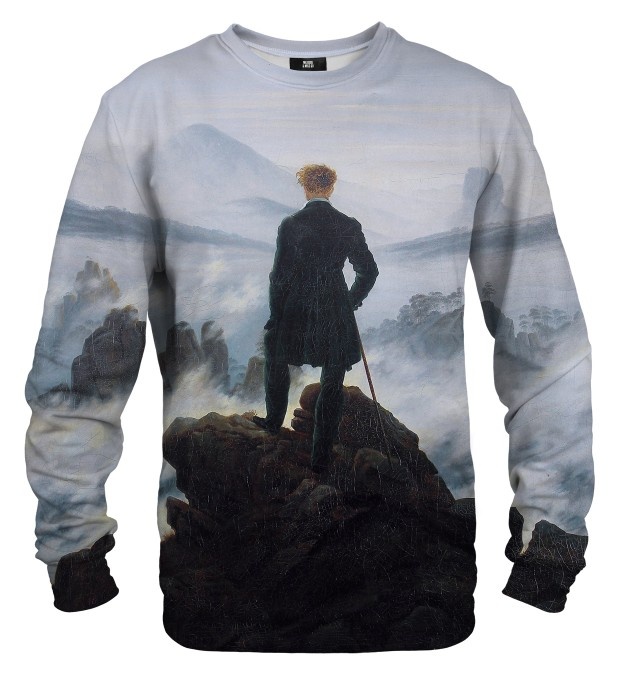 Wanderer above the Sea of Fog sweatshirt Miniaturbild 1