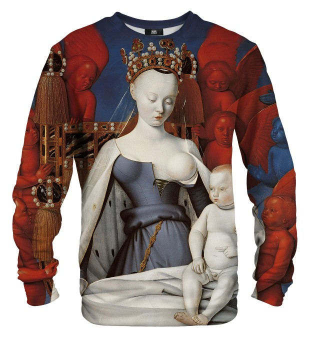 Bluza ze wzorem Virgin and Child Miniatury 1