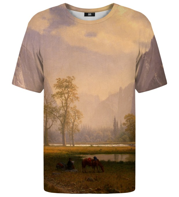 T-shirt Looking Up the Yosemite Valley Miniatury 1