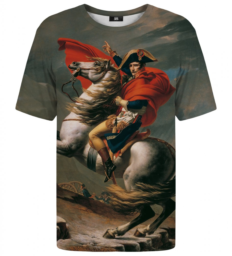 Mr. Gugu & Miss Go, Napoleon Crossing the Alps t-shirt Immagine $i