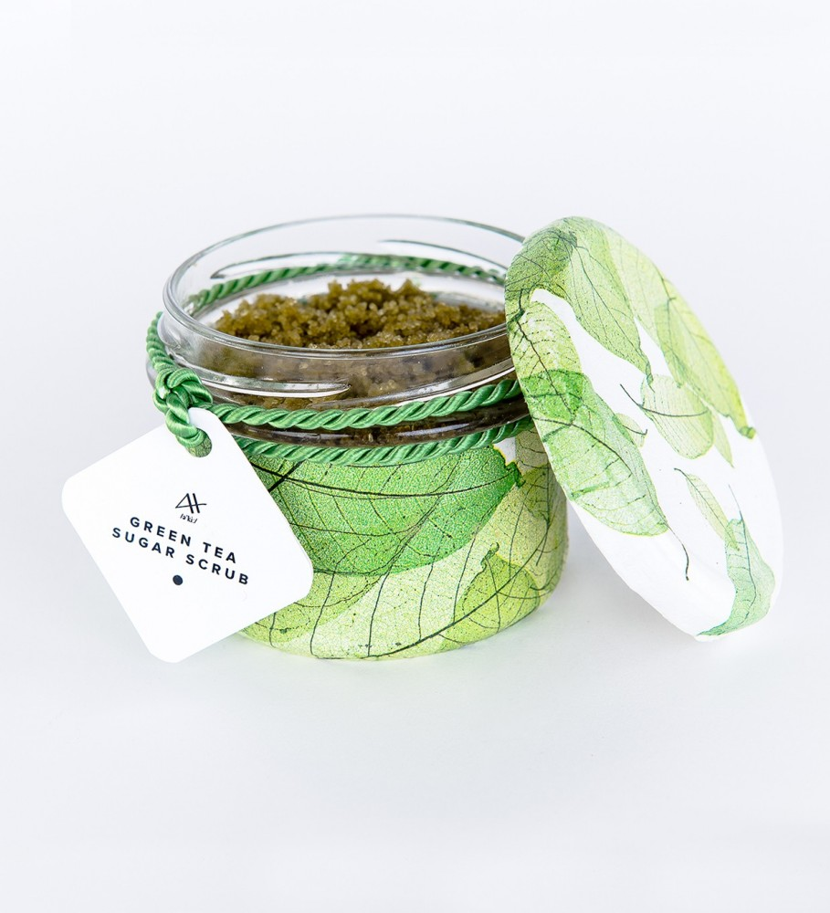 Mr. Gugu & Miss Go, Green Tea Sugar Scrub 200g Фотография $i