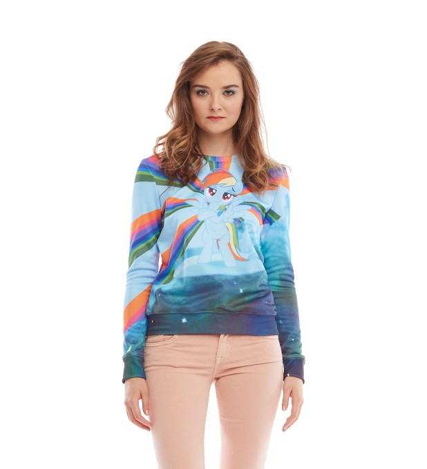 Rainbow Dash Surfer womens sweater Miniature 2