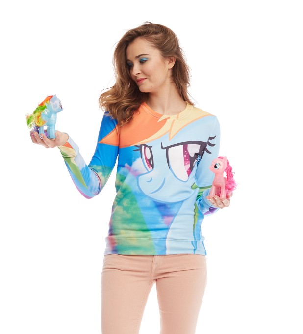 Rainbow Sky womens sweater Miniature 2