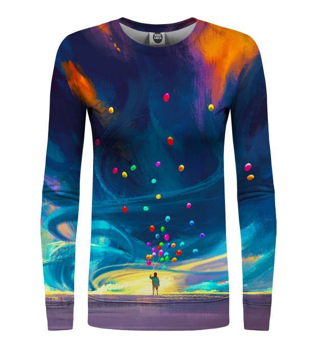 Colorful Balloons womens sweatshirt Miniaturbild 1