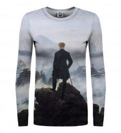 Mr. Gugu & Miss Go, Wanderer above the Sea of Fog womens sweater Thumbnail $i