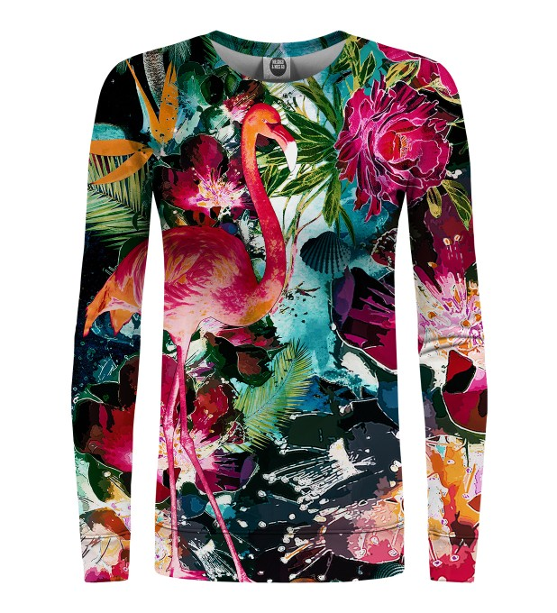 Colorful Flamingo womens sweatshirt Miniaturbild 1