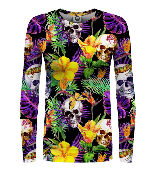 Skulls in Flowers womens sweatshirt Miniaturbild 1