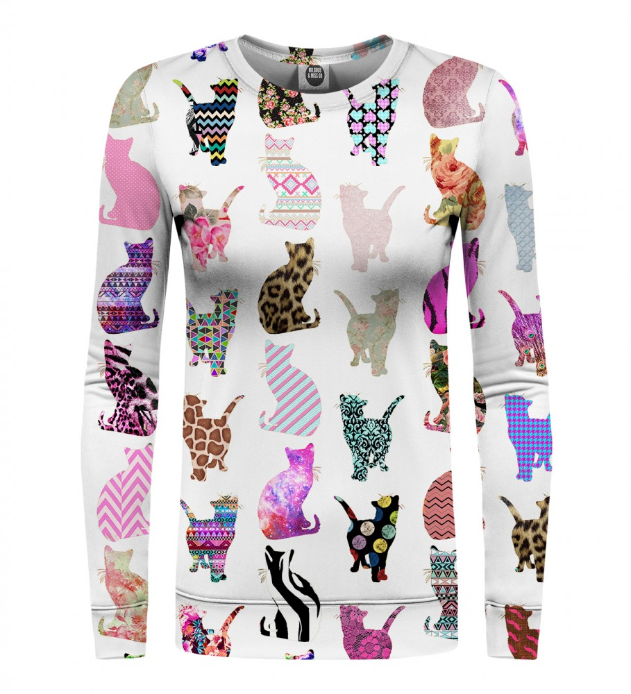 Mr. Gugu & Miss Go, Comic Cats womens sweater Image $i
