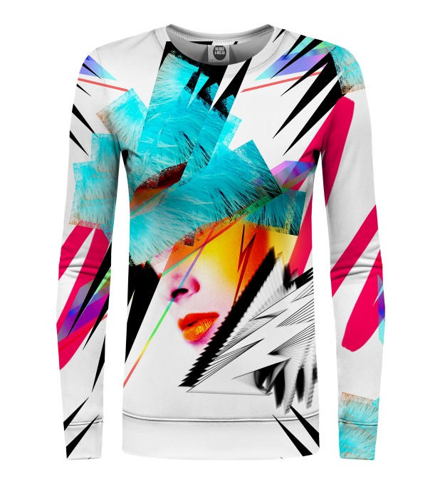 Pop-art Face womens sweatshirt Miniaturbild 1