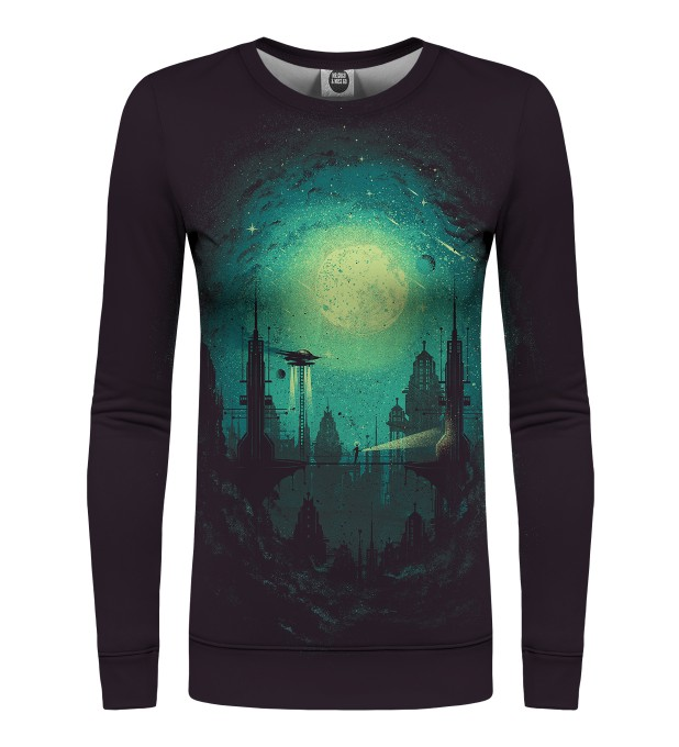 Futuristic city womens sweater Miniature 1