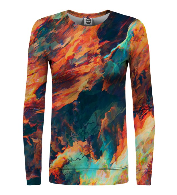 Sky is burning womens sweatshirt Miniaturbild 1