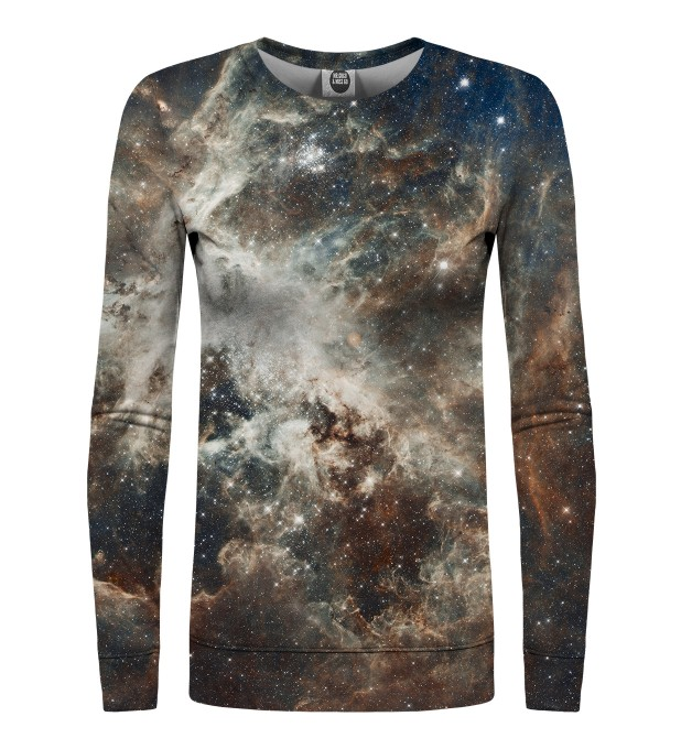Golden Blue Galaxy womens sweatshirt Miniaturbild 1