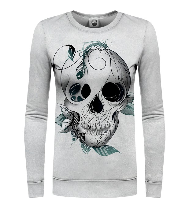 Leaf skull womens sweater Miniature 1