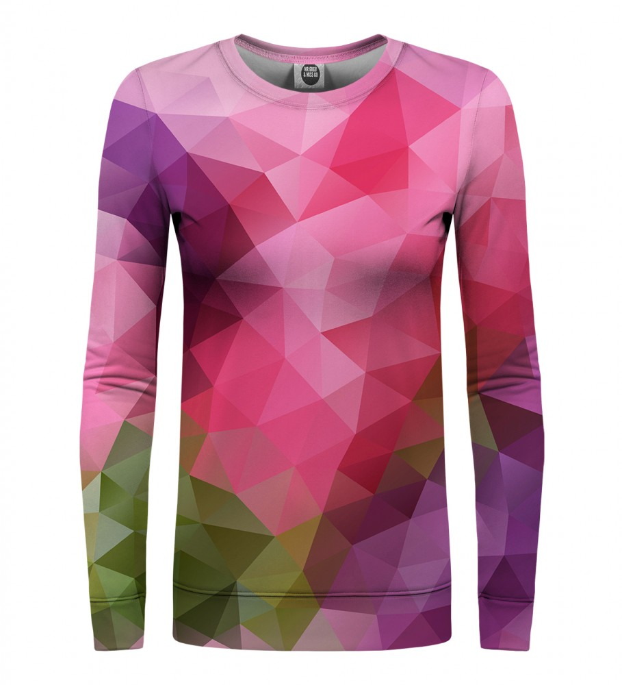 Mr. Gugu & Miss Go, Violet Geometric womens sweatshirt Foto $i