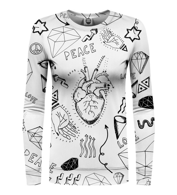 Love icons womens sweater Thumbnail 1