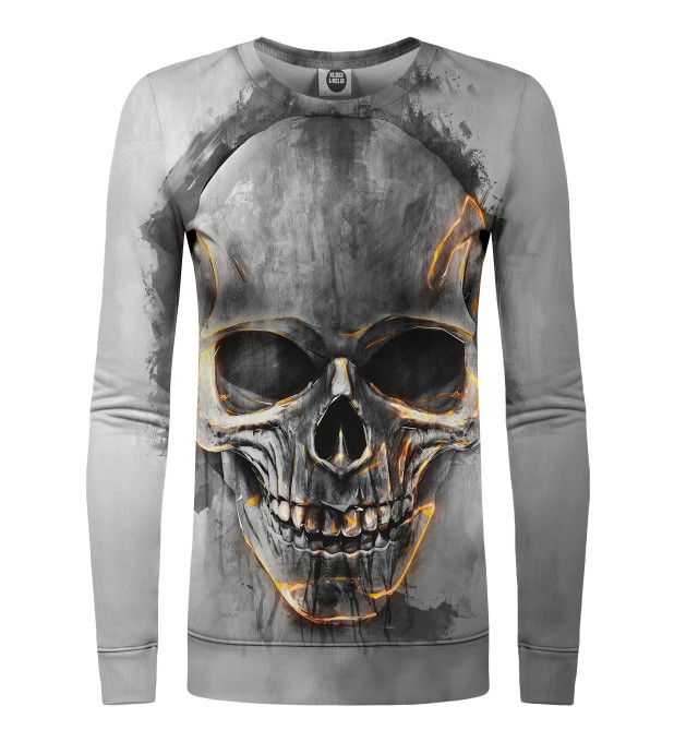 Fire Skull womens sweater Miniature 1