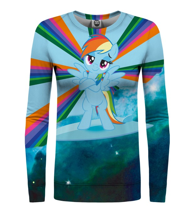 Rainbow Dash Surfer womens sweater Miniature 1