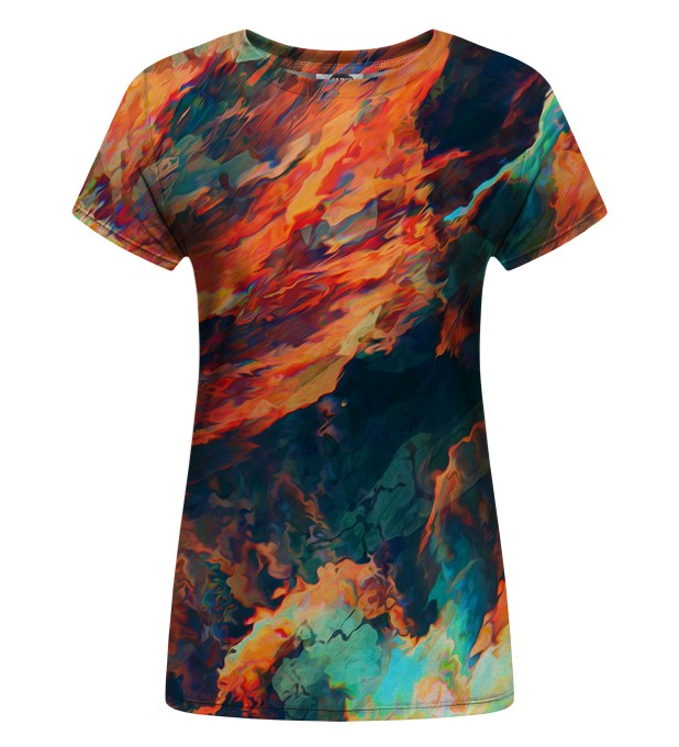 T-shirt damski Sky is burning Miniatury 1