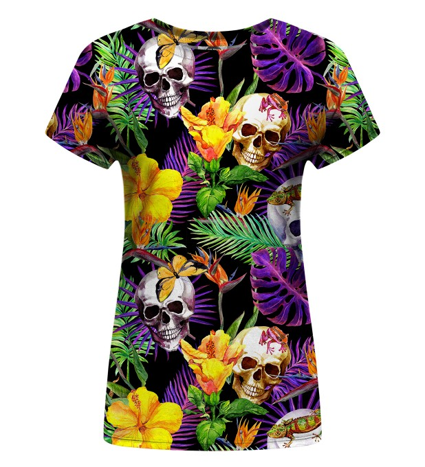 Skulls in Flowers Womens t-shirt Thumbnail 1
