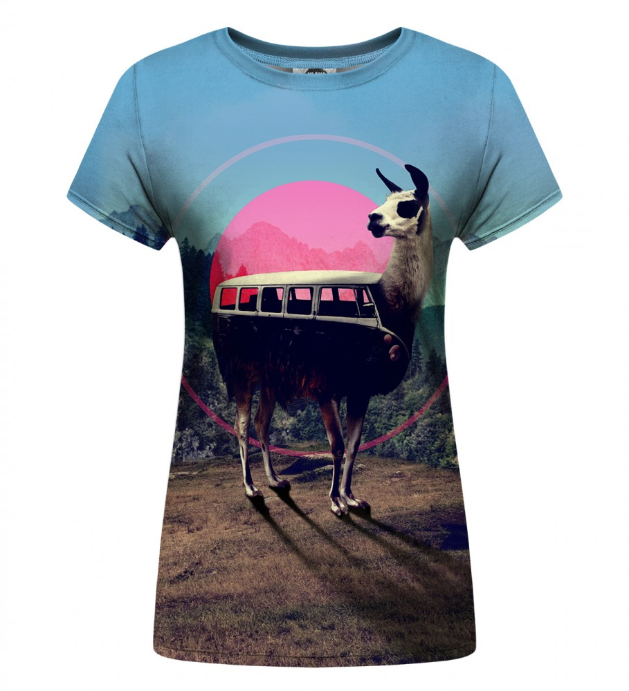 Mr. Gugu & Miss Go, Volkswagen Lama Womens t-shirt Foto $i