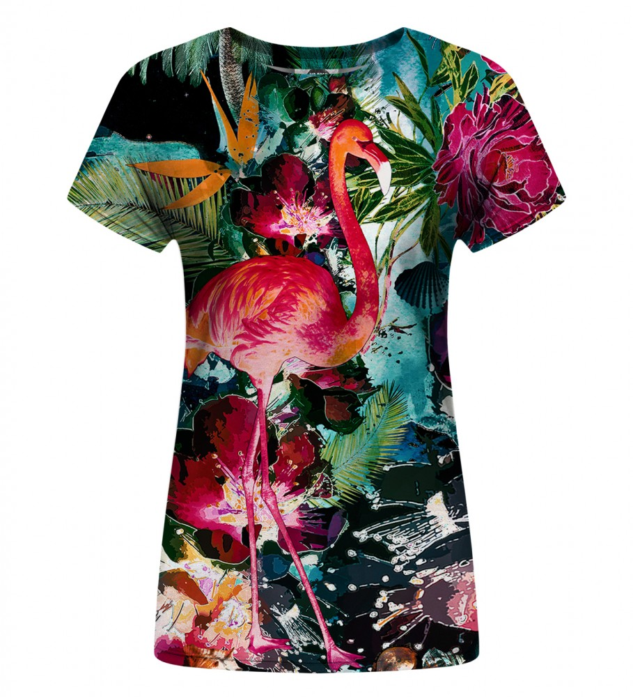 Mr. Gugu & Miss Go, Colorful Flamingo Womens t-shirt Фотография $i