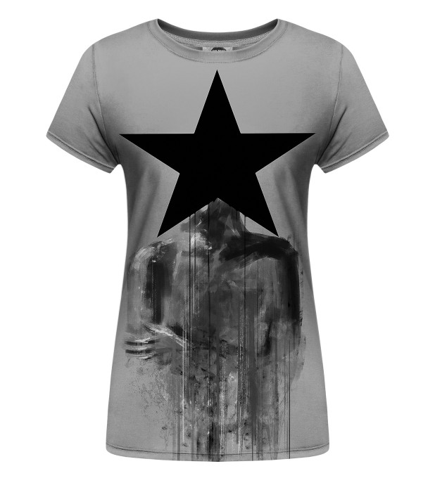 Black Star Womens T-Shirt Miniature 1