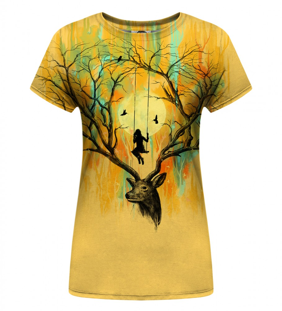 Mr. Gugu & Miss Go, Deer Fantasies Womens T-Shirt Immagine $i