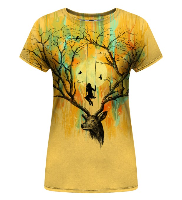 Deer Fantasies Womens T-Shirt Miniature 1