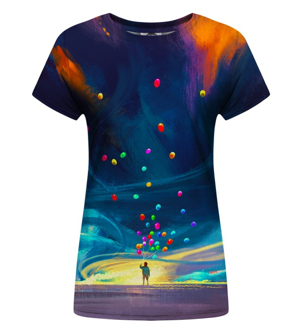 Colorful Balloons Womens t-shirt Miniature 1