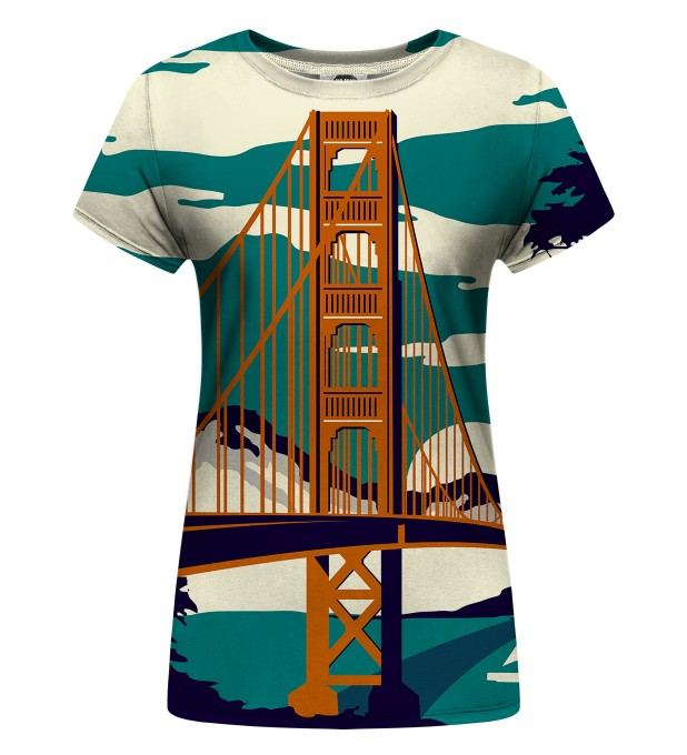 Golden Bridge Womens t-shirt Miniature 1