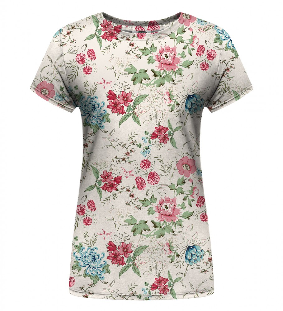 Mr. Gugu & Miss Go, Flowers Sketch Womens t-shirt Immagine $i