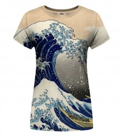 Mr. Gugu & Miss Go, Kanagawa Wave Womens t-shirt Thumbnail $i