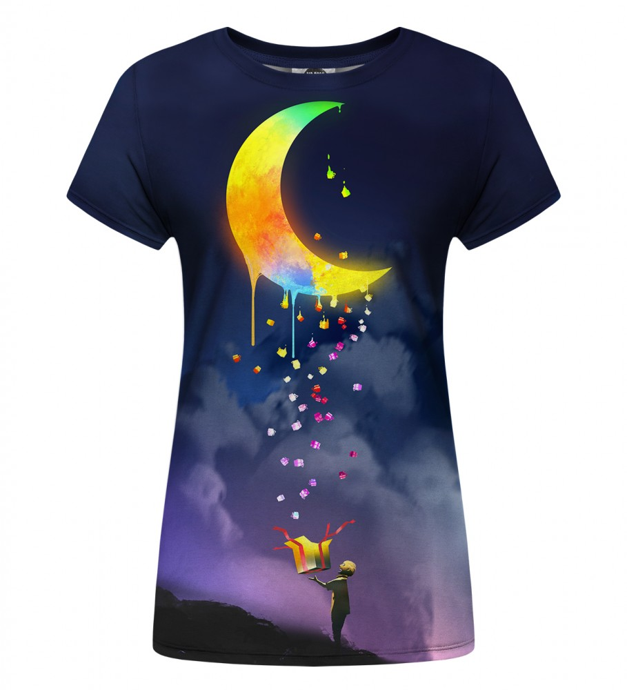 Mr. Gugu & Miss Go, Gifts from the Moon Womens t-shirt Image $i