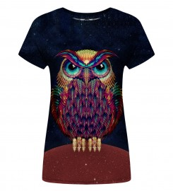 Mr. Gugu & Miss Go, Space Owl Womens t-shirt Miniaturbild $i