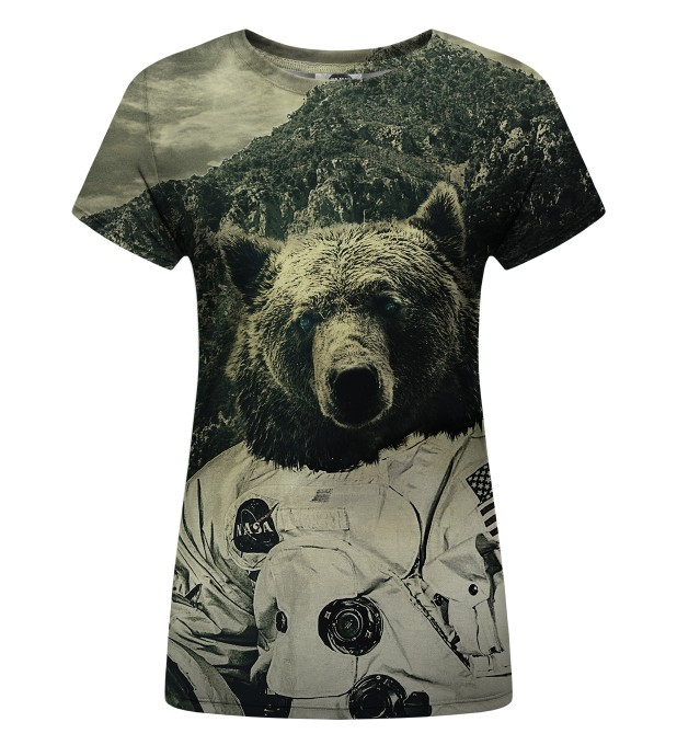 T-shirt damski Nasa Bear Miniatury 1