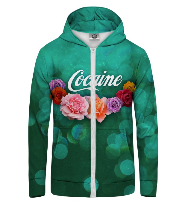Cocaine Zip Up Hoodie Thumbnail 1