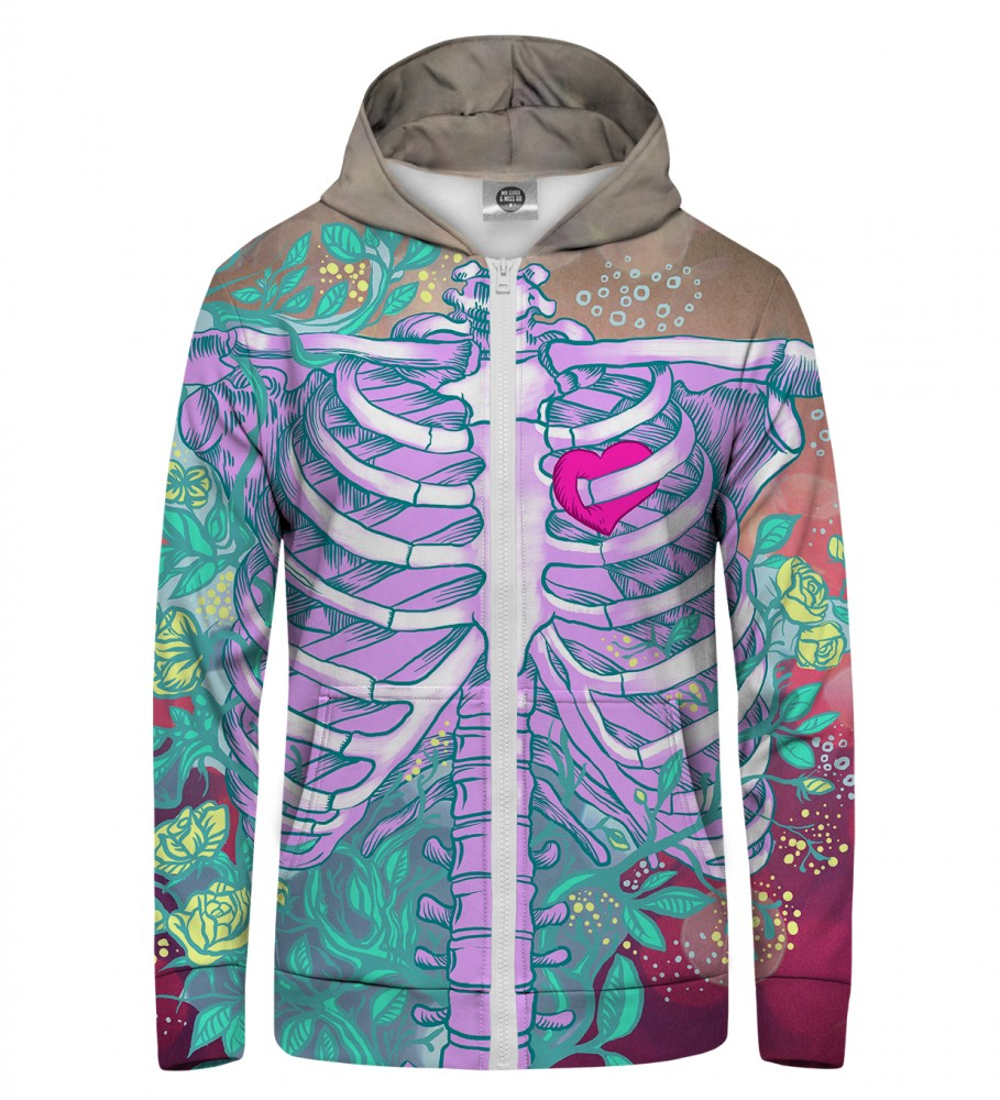 Mr. Gugu & Miss Go, Heart in chest Zip Up Hoodie Image $i
