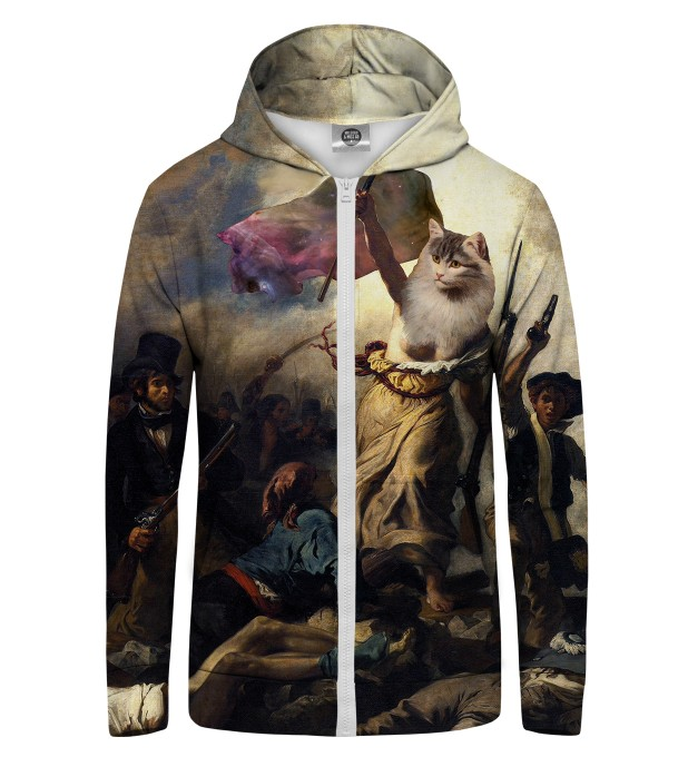 Cat Revolution Zip Up Hoodie Thumbnail 1