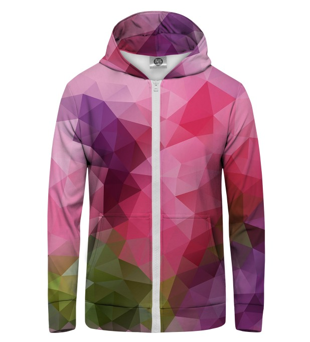Violet geometric Zip Up Hoodie Thumbnail 1