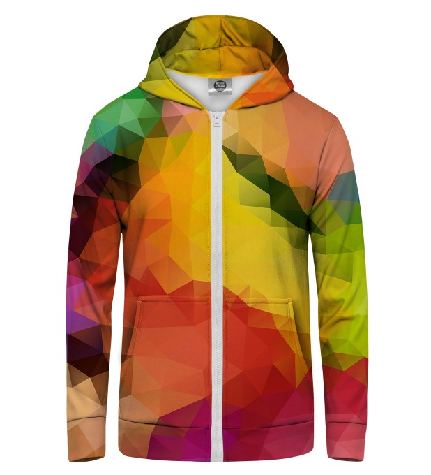 Colorful Geometric Zip Up Hoodie Thumbnail 1