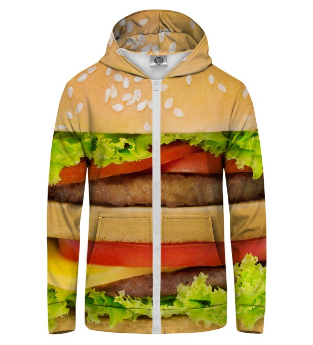Hamburger Zip Up Hoodie Thumbnail 1