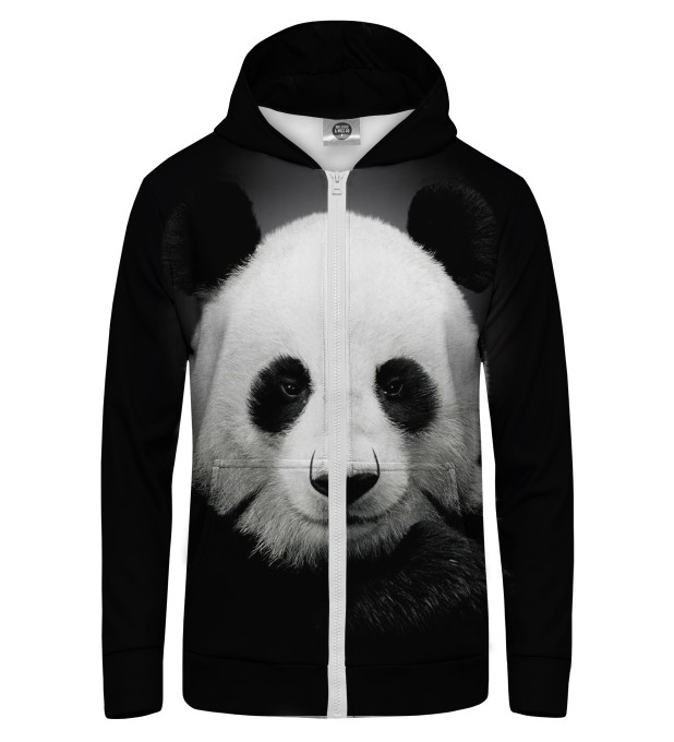 Panda Zip Up Hoodie Miniature 1
