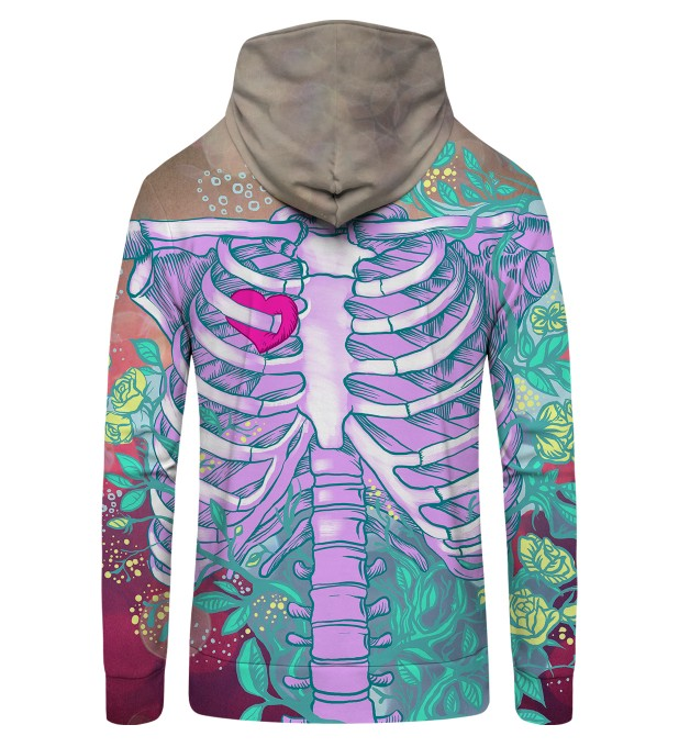 Heart in chest Zip Up Hoodie Thumbnail 2