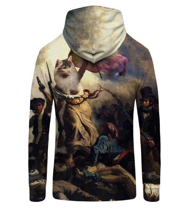 Cat Revolution Zip Up Hoodie Thumbnail 2